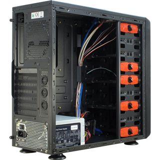 Inter-Tech SY-603 Midi Tower 500 Watt schwarz