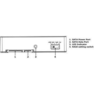"""RaidSonic Icy Box IB-RD2121StS 3,5"""" Wechselrahmen für 2x 2.5"""" Festplatten (12176)"""