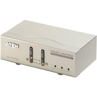 ATEN Technology VS0202 2-fach VGA-A/V-Matrix Switch