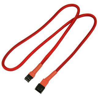 Nanoxia 60 cm rotes Verlängerungskabel für 3-Pin Molex (NX3PV60R)