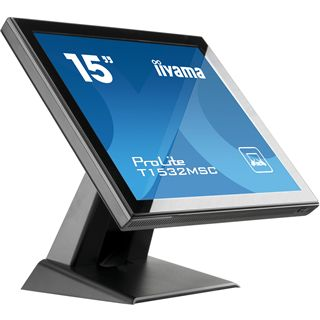 "15"" (38,10cm) iiyama ProLite T1532MSC-B1 Touch schwarz 1024x720 1xVGA/1xDVI"