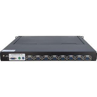 """Inter-Tech Case IPC KVM-1708 Konsole, 17"""" LCD, English Layout"""