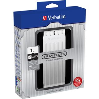 "1000GB Verbatim Store and Go Traveller 53064 2.5"" (6.4cm) USB 3.0 silber"