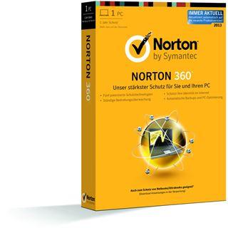 Symantec Norton 360 2013 32/64 Bit Deutsch Internet Security Upgrade PC (DVD)