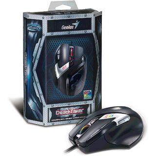 Genius DeathTaker MMO/RTS professional gaming mouse USB schwarz (kabelgebunden)