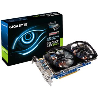 2GB Gigabyte GeForce GTX 660 Ti Windforce 2X Aktiv PCIe 3.0 x16 (Retail)