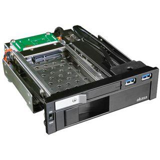 """Akasa 2x USB 3.0 5.25"""" Wechselrahmen für 2.5"""" und 3.5"""" Festplatten (AK-IEN-01)"""