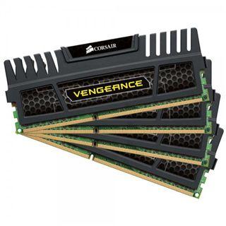 16GB Corsair Vengeance Black DDR3-2400 DIMM CL10 Quad Kit