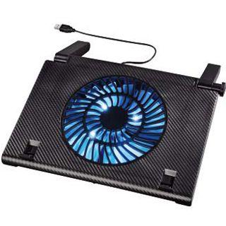 Hama Notebook-Kühler Carbon Optik mit blauen LED USB Powered