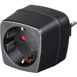 Brennenstuhl Adapter Schutzkontakt Stecker auf Buchse Italien Schwarz