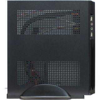 Inter-Tech ITX E-2020 ITX Tower 60 Watt schwarz/silber