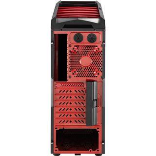 AeroCool XPredator X1 Devil Red Edition Midi Tower ohne Netzteil schwarz/rot