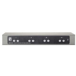 LevelOne KVM-0461 4-fach Desktop KVM-Switch