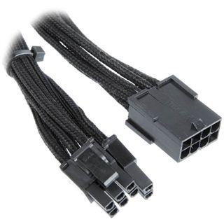 BitFenix 6+2-Pin PCIe Verlängerung 45cm - sleeved schwarz/schwarz
