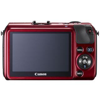 Canon EOS M Kit inklusive EF-M 18-55 mm f/3.5-5.6 IS STM + Speedlite 90EX rot