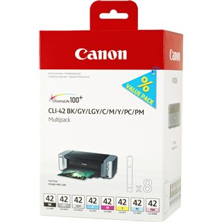 Canon Tinte CLI-42 Multipack 6384B010 schwarz, grau, grau hell, cyan, cyan photo, magenta, magenta photo, gelb