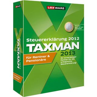 Lexware Taxman 2013 für Rentner und Pensionäre 32/64 Bit Deutsch Office Vollversion PC (DVD)