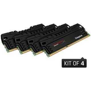 32GB Kingston HyperX Beast DDR3-2400 DIMM CL11 Quad Kit
