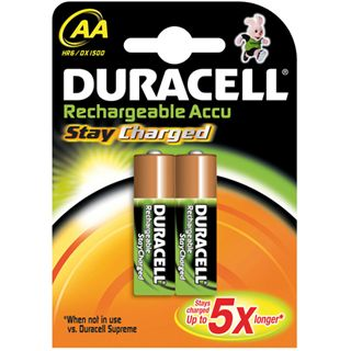Duracell Stay Charged AA / Mignon Nickel-Metall-Hydrid 2000 mAh 2er Pack