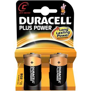 Duracell Plus Power LR14 Alkaline C Baby Batterie 1.5 V 2er Pack