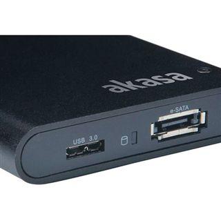 """Akasa Lokstor X21 2.5"""" (6,35cm) eSATA/USB 3.0 schwarz"""