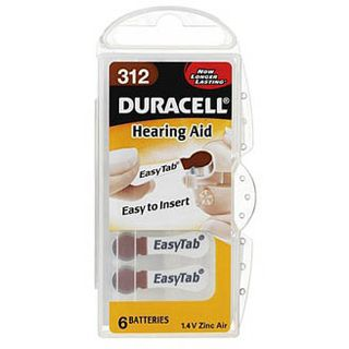 Duracell Hearing Aid DA312 Zink-Luft 1.4 V 6er Pack