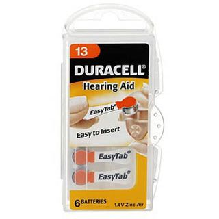 Duracell Hearing Aid DA13 Zink-Luft 1.4 V 6er Pack