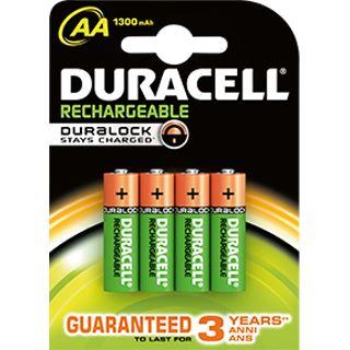 Duracell Recharge Plus HR06 Nickel-Metall-Hydrid AA Mignon Akku 1300 mAh 4er Pack