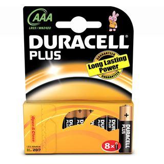 Duracell Plus Power AAA / Micro Alkaline 1.5 V 8er Pack