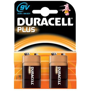Duracell Plus 9V / E Block Alkaline 9.0 V 2er Pack
