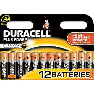 Duracell Plus Power LR6 Alkaline AA Mignon Batterie 1.5 V 12er Pack