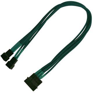 Nanoxia 30 cm grünes Adapterkabel für 4-Pin Molex zu 2x 3-Pin (NX42A30G)