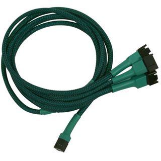 Nanoxia 60 cm grünes Adapterkabel für 3-Pin Molex zu 4x 3-Pin (NX34A60G)