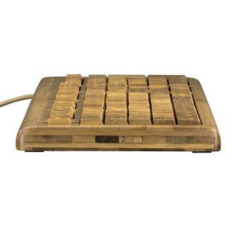 Hama Multimedia Tastatur Bambus USB Deutsch bambus (kabelgebunden)