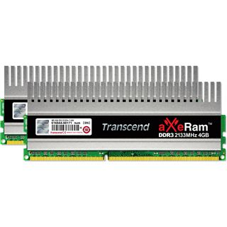 4GB Transcend aXeRAM DDR3-2133 DIMM CL10 Dual Kit