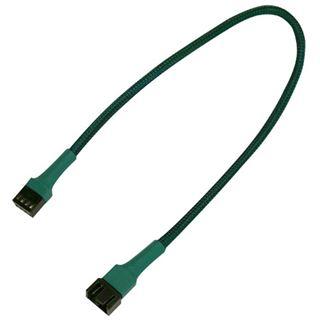 Nanoxia 30 cm grünes einzelsleeve Verlängerungskabel für 4-Pin PWM (NXPWV3EG)