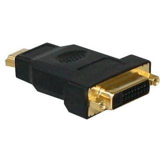 Good Connections Adapter 19pol HDMI Stecker auf DVI 24+1 Buchse Schwarz