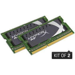 8GB Kingston HyperX Plug n Play DDR3-1600 SO-DIMM CL9 Dual Kit