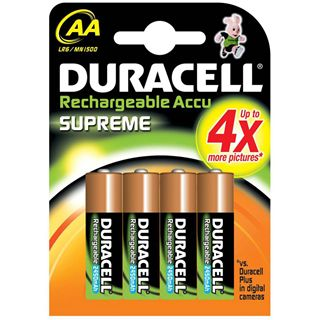 Duracell Supreme AA / Mignon Nickel-Metall-Hydrid 2400 mAh 4er Pack