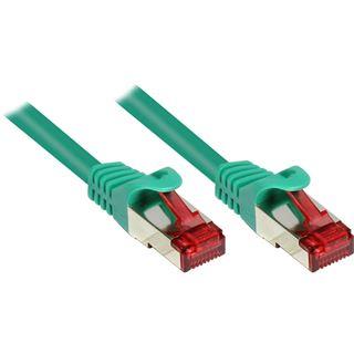 (€0,52*/1m) 25.00m Good Connections Cat. 6 Patchkabel S/FTP PiMF RJ45 Stecker auf RJ45 Stecker Grün PVC