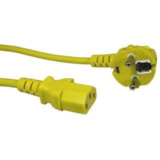 (€3,83*/1m) 1.80m Good Connections Stromkabel Anschlusskabel Kaltgeräte Buchse auf Schutzkontakt Stecker Gelb