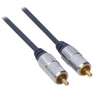 3.00m Good Connections Audio Anschlusskabel Cinch Stecker auf Cinch Stecker Schwarz/Silber vergoldet
