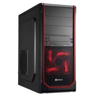 Sharkoon VS3-V Midi Tower ohne Netzteil schwarz/rot