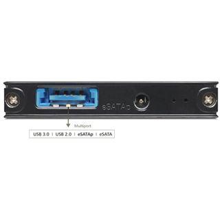 "Delock 42508 1.8"" (4,57cm) eSATAp/USB 3.0 schwarz"