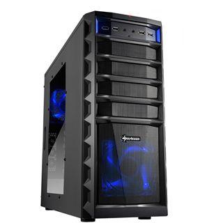 Sharkoon REX3 Value mit Sichtfenster Midi Tower ohne Netzteil schwarz
