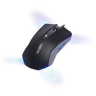 LogiLink Optical Gaming Mouse USB grau/schwarz (kabelgebunden)