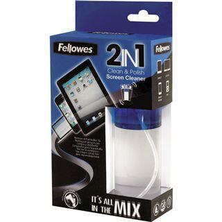 Fellowes 2-in-1 Bildschirm Reiniger 125 ml mit Mikrofase