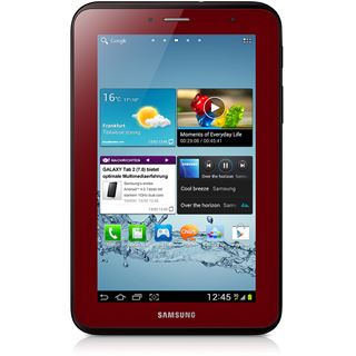 "7.0"" (17,78cm) Samsung Galaxy Tab 2 7.0 WiFi/Bluetooth V3.0 8GB rot"