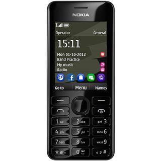 Nokia 206 schwarz