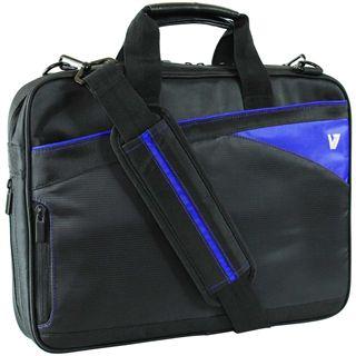"V7 Edge Toploader 14.1"" (35,81cm) schwarz/blau"